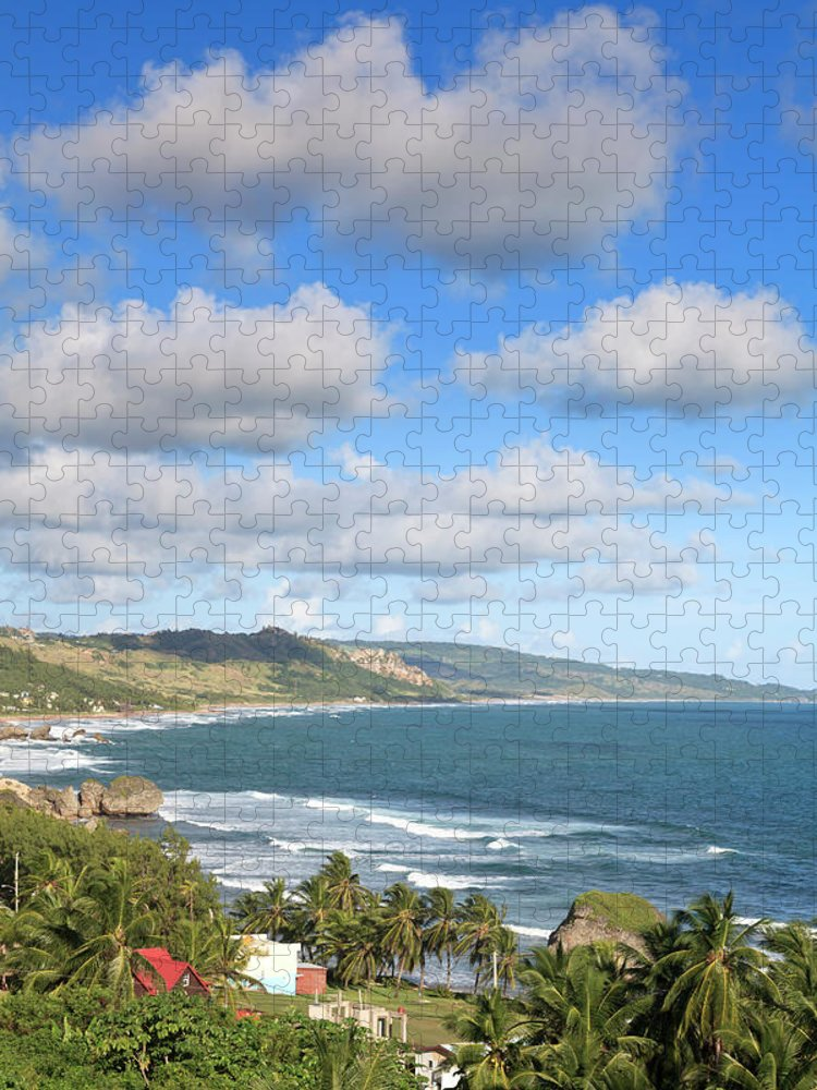 Scenics Puzzle featuring the photograph Bathsheba Bay, Barbados by Michele Falzone