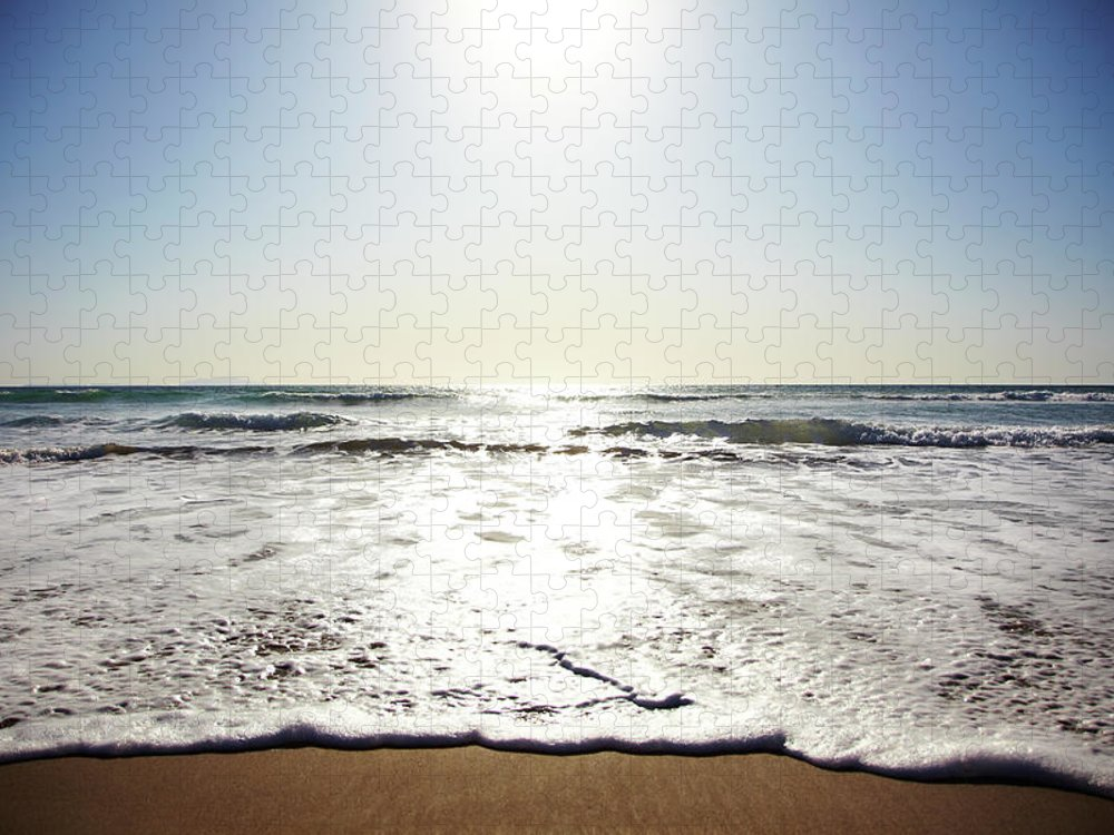 Tranquility Puzzle featuring the photograph Beach In California On Pacific Ocean by Thomas Northcut