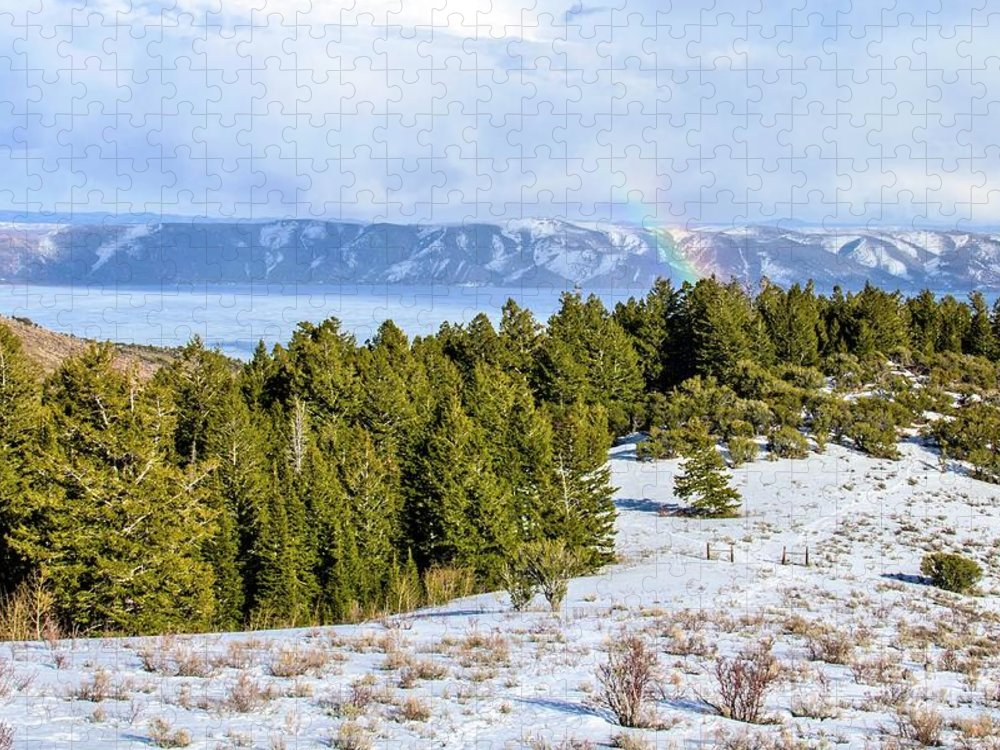 Tranquility Puzzle featuring the photograph Bear Lake Scenic Byway by ©anitaburke