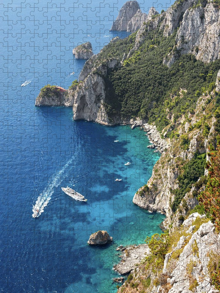 Scenics Puzzle featuring the photograph Beautiful Capris Sea by Pierpaolo Paldino
