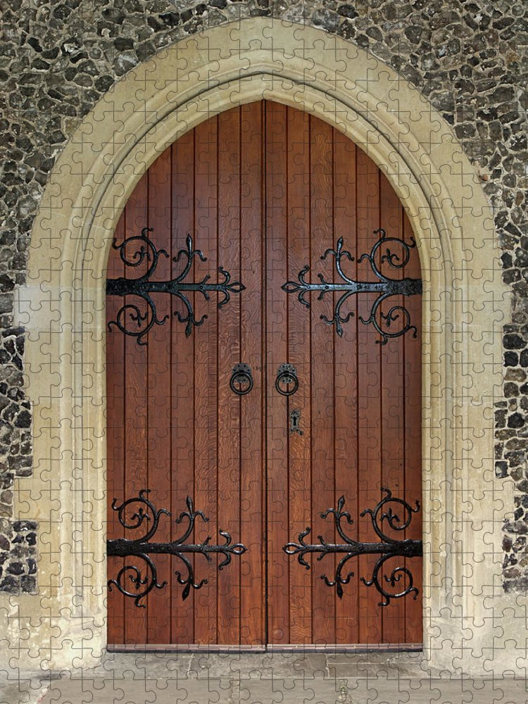 Arch Puzzle featuring the photograph Beautiful Church Door by Phototropic
