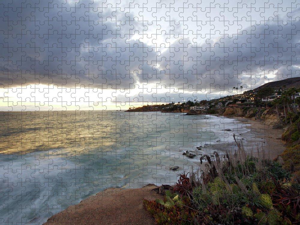 Laguna Beach Puzzle featuring the photograph Beautiful Laguna Coast After Sunset by Ekash