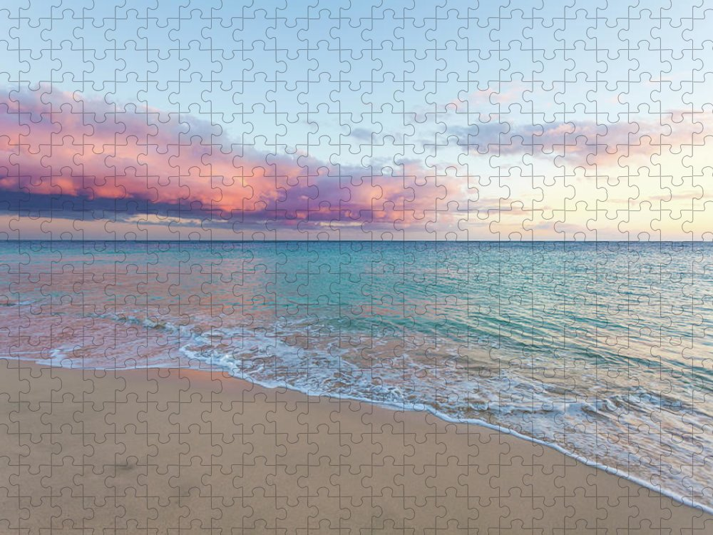 Water's Edge Puzzle featuring the photograph Beautiful Seascape, Beach And Ocean At by Zodebala