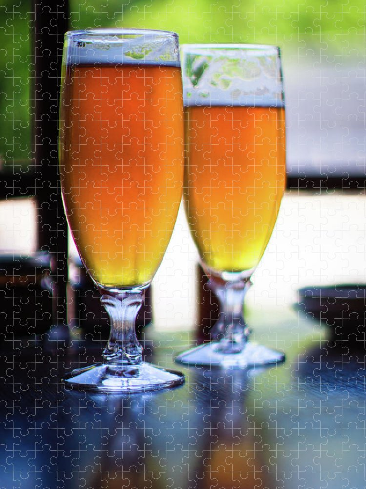 Alcohol Puzzle featuring the photograph Beer Glass by Sakura chihaya+