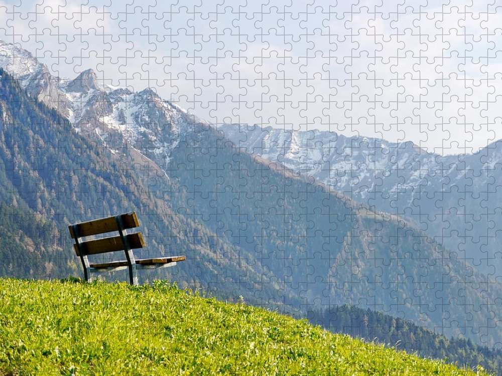 Scenics Puzzle featuring the photograph Bench by Rolfo Eclaire