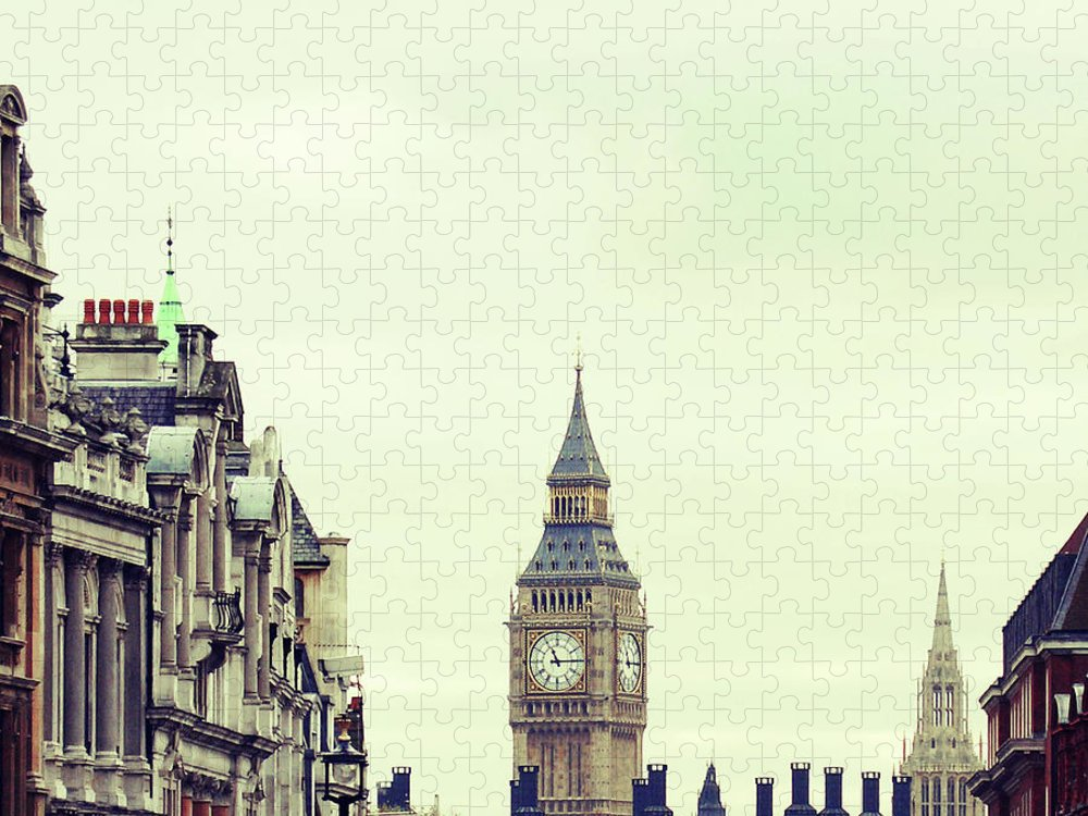 Clock Tower Puzzle featuring the photograph Big Ben As Seen From Trafalgar Square by Image - Natasha Maiolo