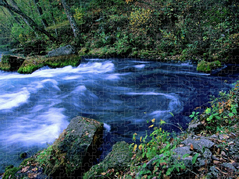 Scenics Puzzle featuring the photograph Big Spring, Ozarks National Scenic by John Elk Iii