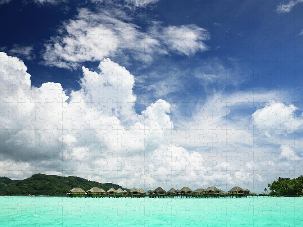 Standing Water Puzzle featuring the photograph Blue Lagoon Holiday Luxury Resort by Mlenny