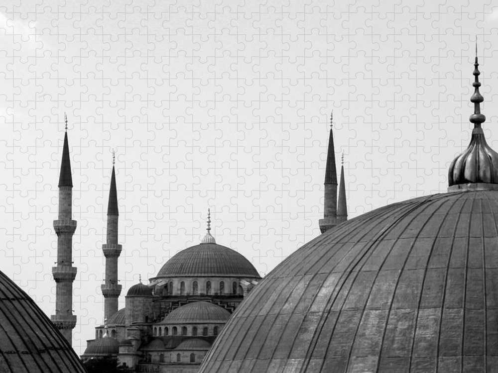 Istanbul Puzzle featuring the photograph Blue Mosque, Istanbul by Dave Lansley