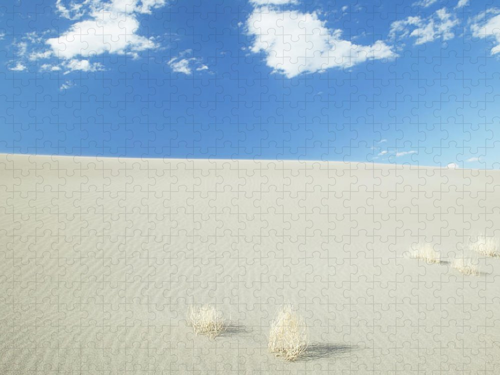 Sand Dune Puzzle featuring the photograph Blue Sky Over Sand Dune by Bryan Mullennix