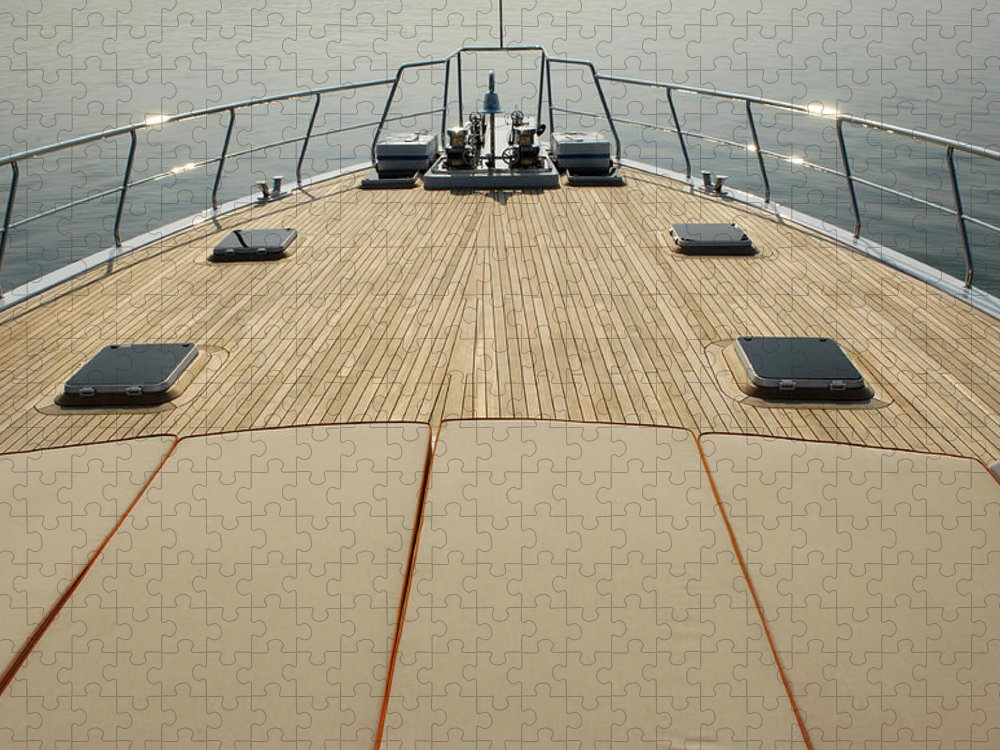 Seascape Puzzle featuring the photograph Boat Deck by 1001nights