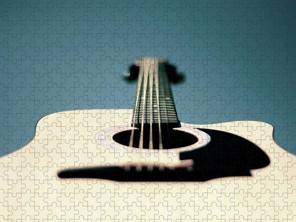 Music Puzzle featuring the photograph Bokeh String by George Bentley Photography