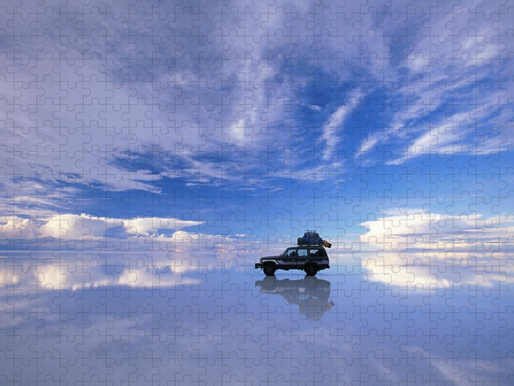 Bolivia Puzzle featuring the photograph Bolivia, Salar De Uyuni, Expedition by Art Wolfe