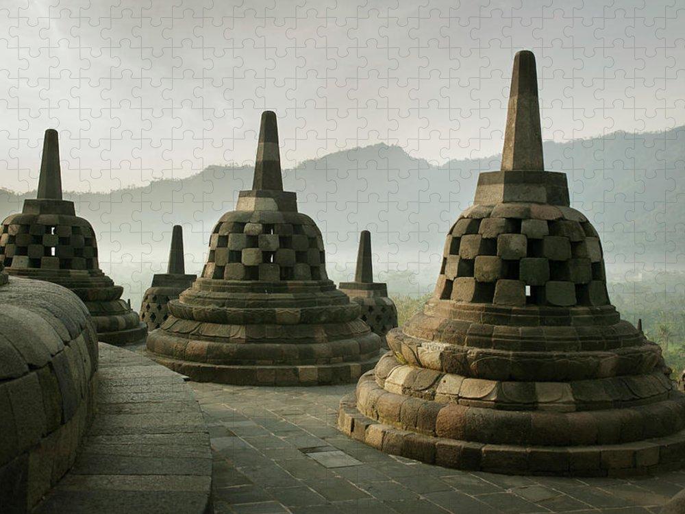 Unesco Puzzle featuring the photograph Borobudur Temple by Huy Lam / Design Pics