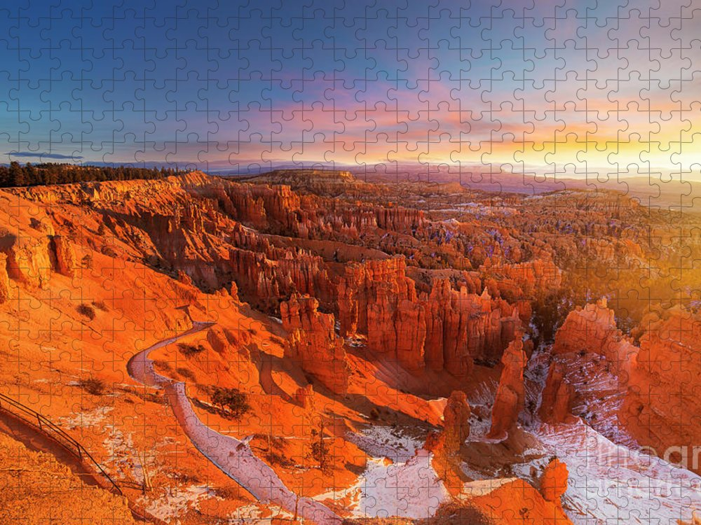 Scenics Puzzle featuring the photograph Bryce Canyon National Park At Sunset by Ankit Saxena