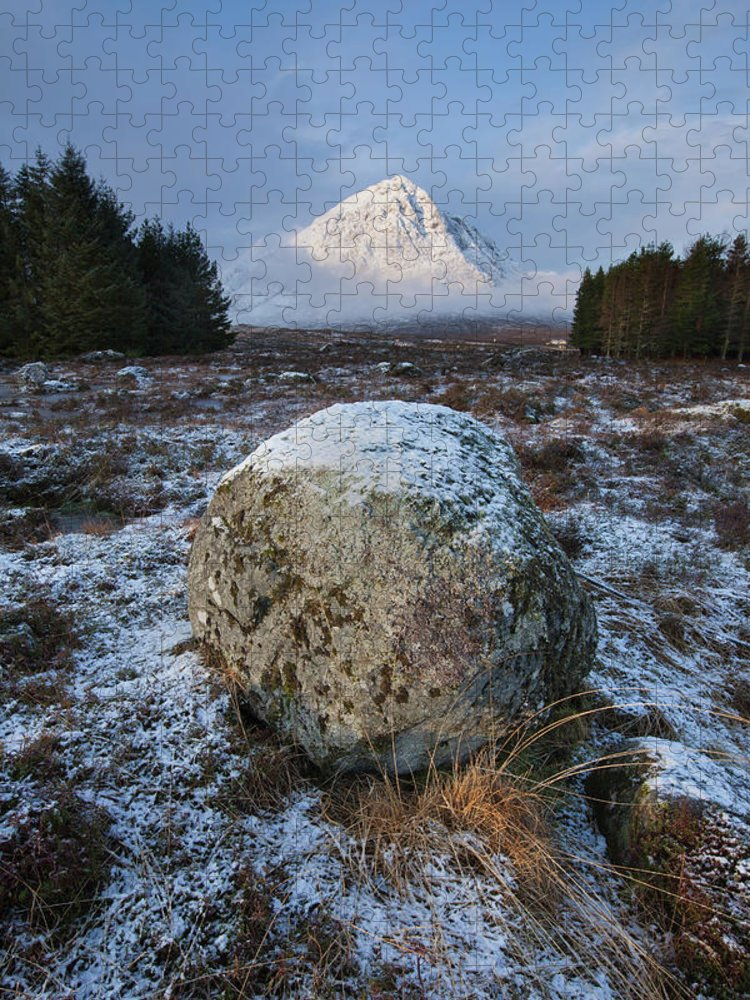Rannoch Moor Puzzle featuring the photograph Buachaille Etive Mor Sunlight by Paul Whiting