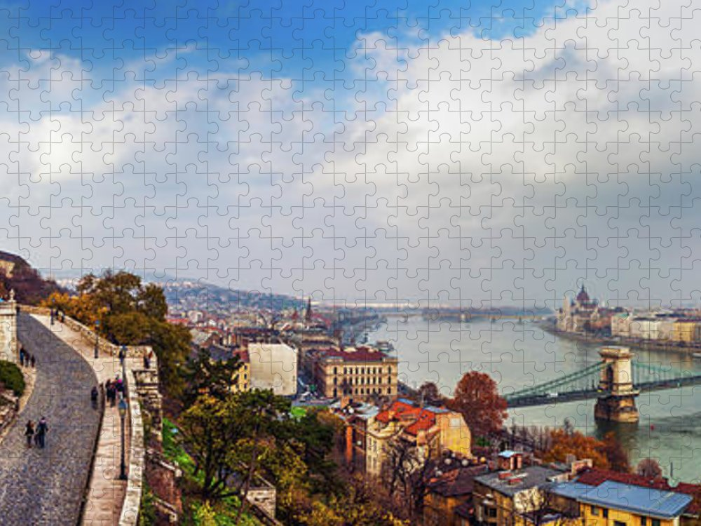Hungarian Parliament Building Puzzle featuring the photograph Budapest - Sweeping View by John And Tina Reid
