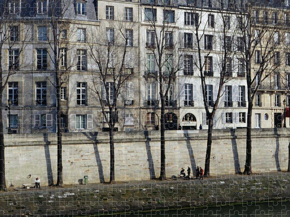 Built Structure Puzzle featuring the photograph Buildings On Ile Saint-louis by Lonely Planet