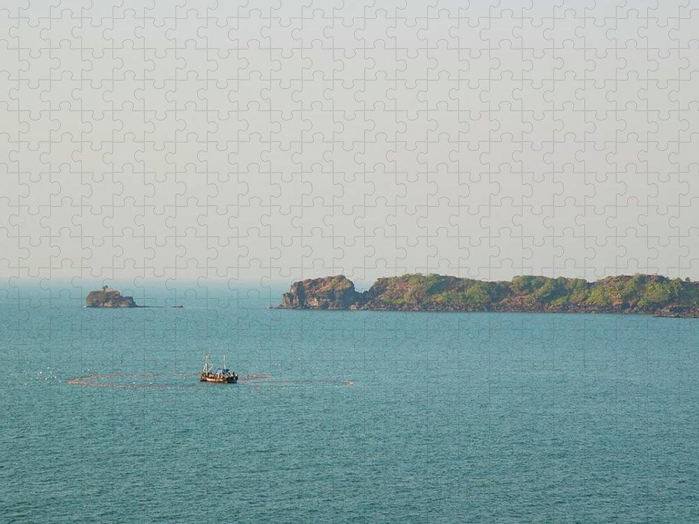Scenics Puzzle featuring the photograph Cabo De Rama, Goa by Cranjam