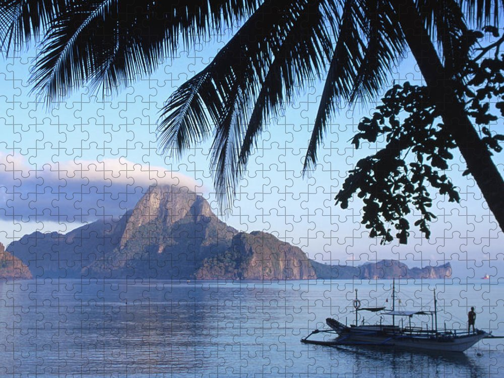 People Puzzle featuring the photograph Cadlao Island From El Nido, Sunrise by Dallas Stribley