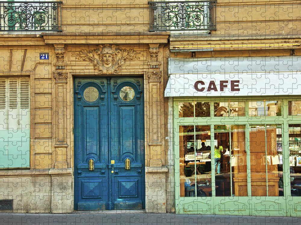 Diner Puzzle featuring the photograph Cafe In Paris by Nikada