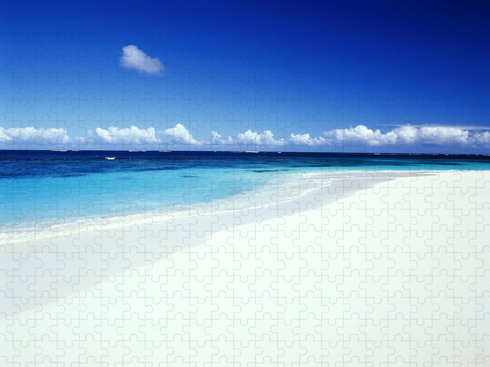 Scenics Puzzle featuring the photograph Caribbean Anguilla Shoal Bay Beach by Buena Vista Images