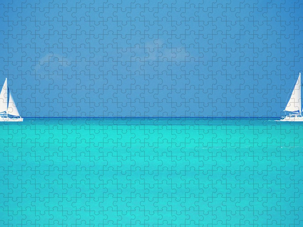 Sailboat Puzzle featuring the photograph Caribbean, Turks And Caicos Islands by Medioimages/photodisc