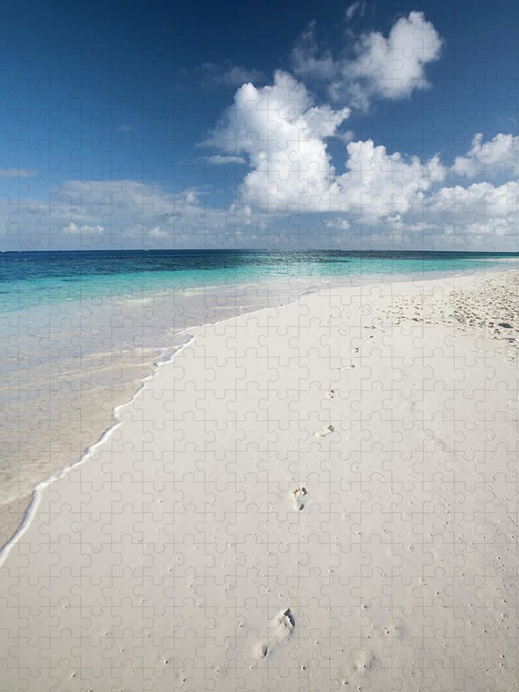 Scenics Puzzle featuring the photograph Caribbean White Sand Beach by Stevegeer