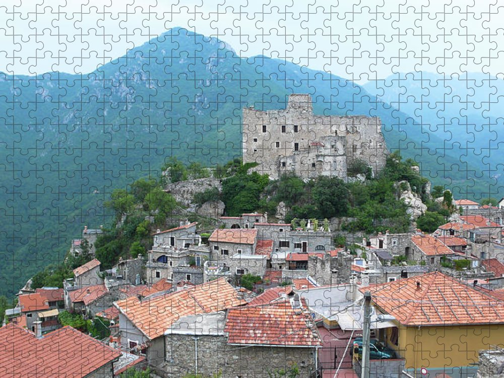 Tranquility Puzzle featuring the photograph Castelvecchio Di Rocca Barbena by Photo By Randi Larsen