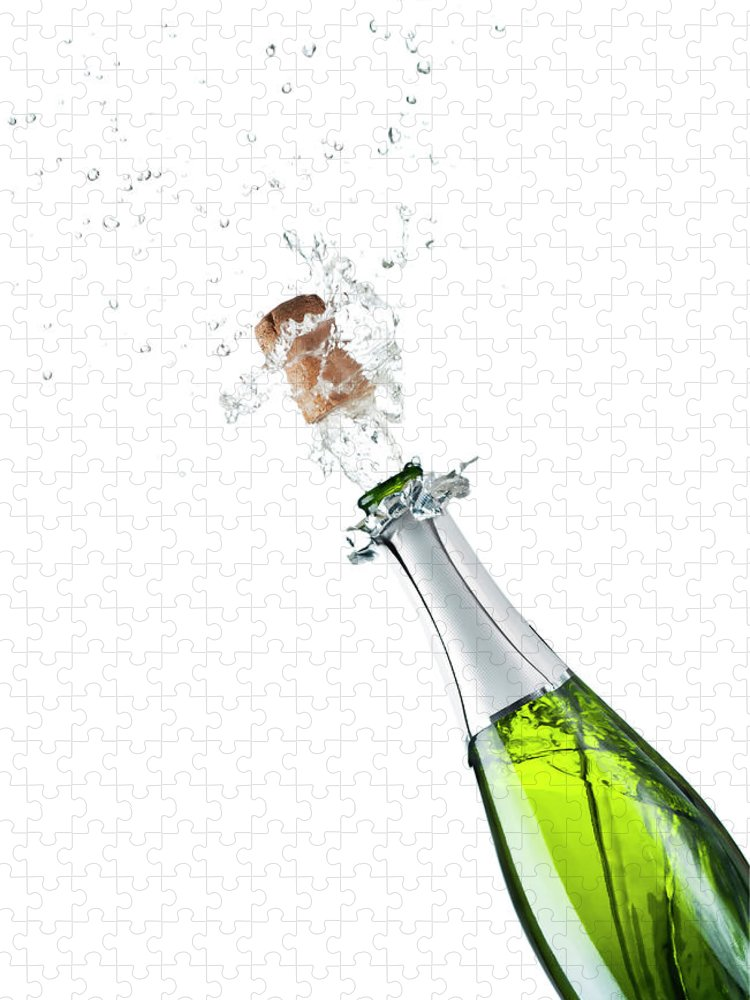 Releasing Puzzle featuring the photograph Champagne Bottle by Mphillips007