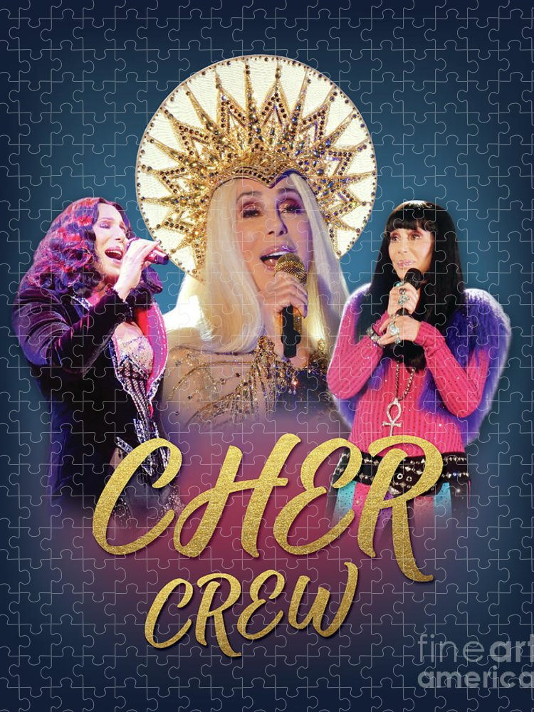 Cher Puzzle featuring the digital art Cher Crew x3 by Cher Style