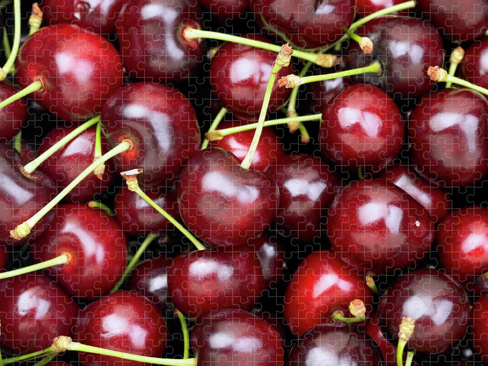 Cherry Puzzle featuring the photograph Cherries by Maria Toutoudaki