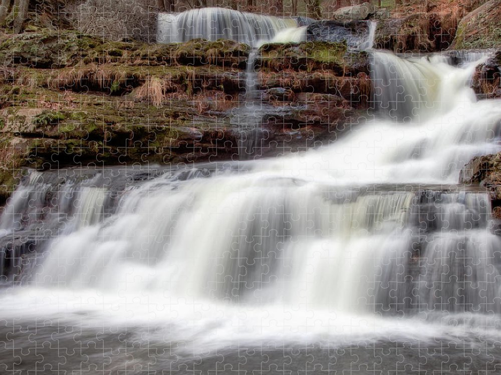 Outdoors Puzzle featuring the photograph Childs Park Waterfall by Michael Orso