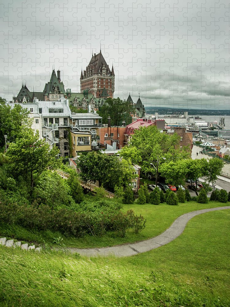 Tranquility Puzzle featuring the photograph City View Of Old Quebec City, Quebec by Marlene Ford