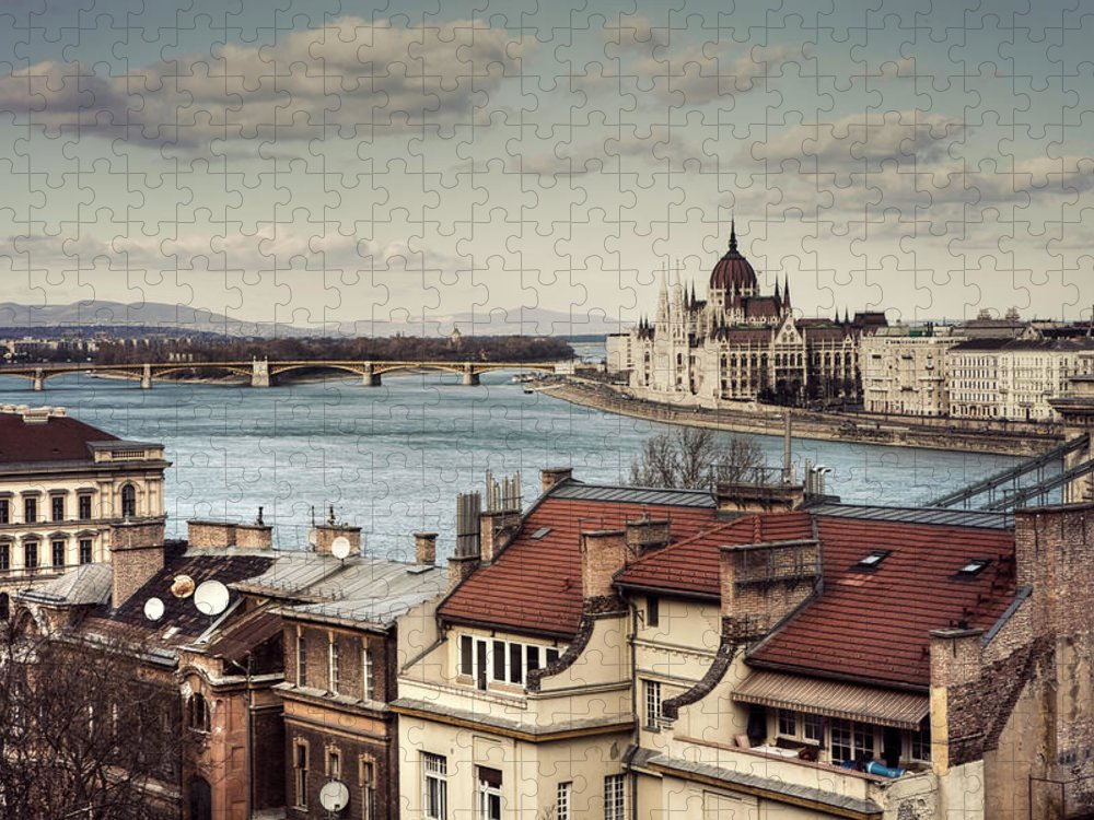 Tranquility Puzzle featuring the photograph Cityscape Of Budapest by By Matthew Heptinstall