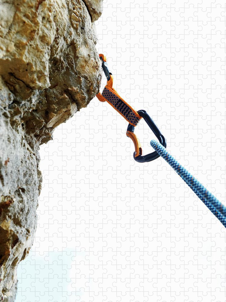 Hanging Puzzle featuring the photograph Climbing by Adie Bush