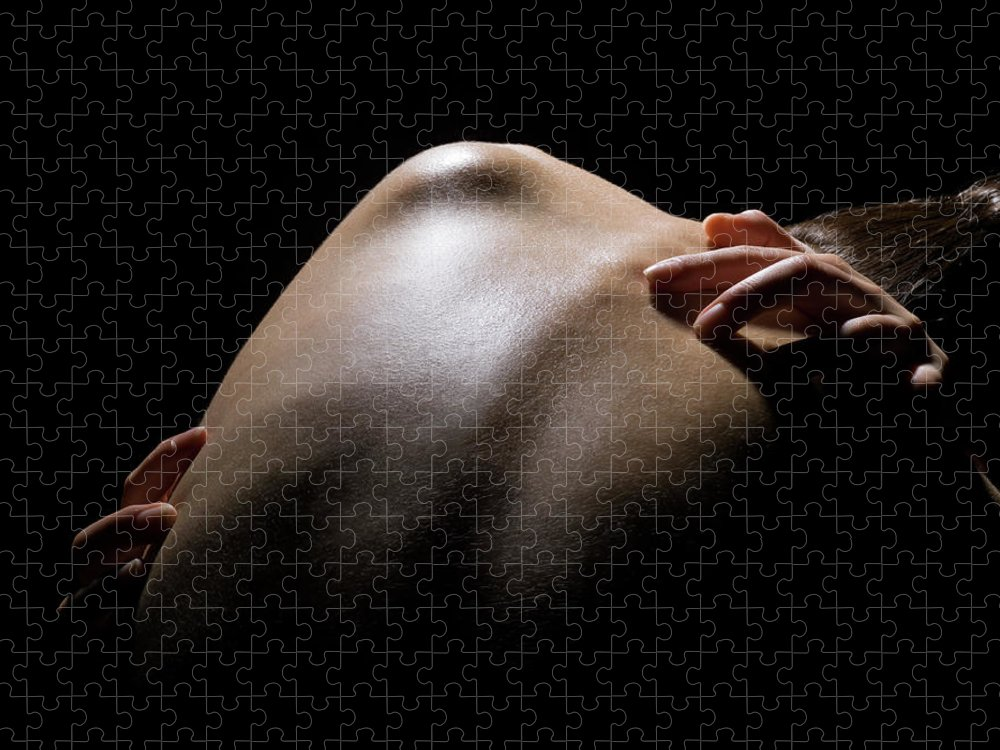 Tranquility Puzzle featuring the photograph Close Up Of A Females Shoulder by Michael H