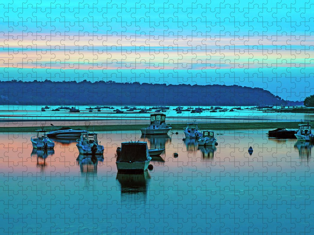 Scenics Puzzle featuring the photograph Cold Spring Harbor, Long Island, Ny by Rudi Von Briel