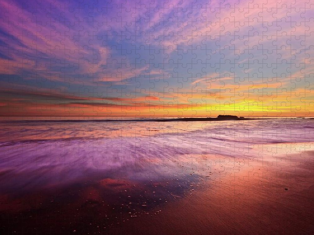 Scenics Puzzle featuring the photograph Color Splash At Sunset, Laguna Beach by Eric Lo