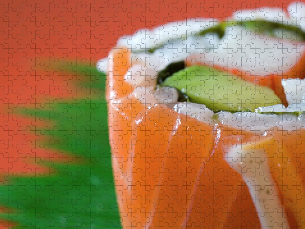 Asian And Indian Ethnicities Puzzle featuring the photograph Colorful Sushi by Creativeye99