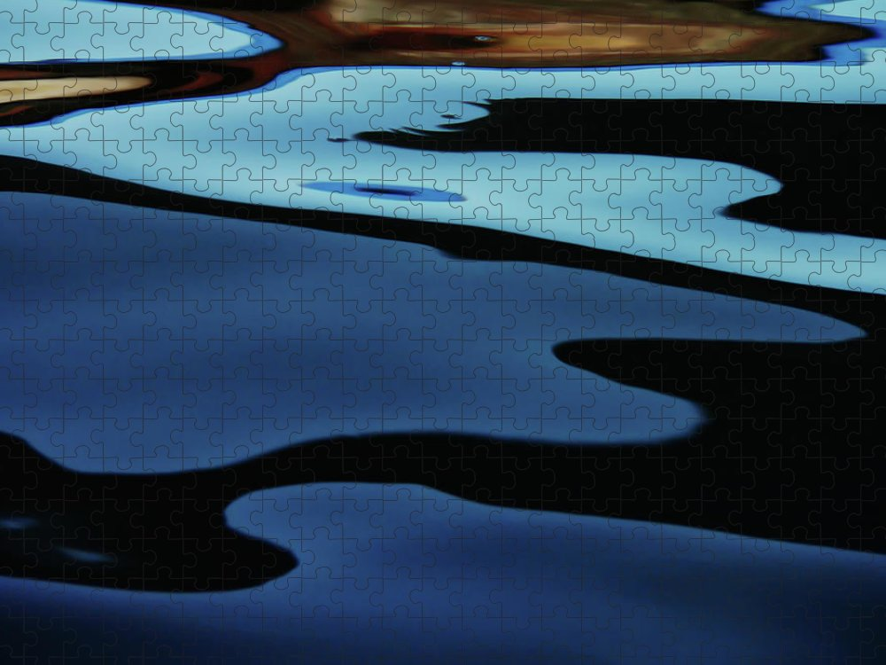 Scenics Puzzle featuring the photograph Colorful Water Background Abstract by Lubilub
