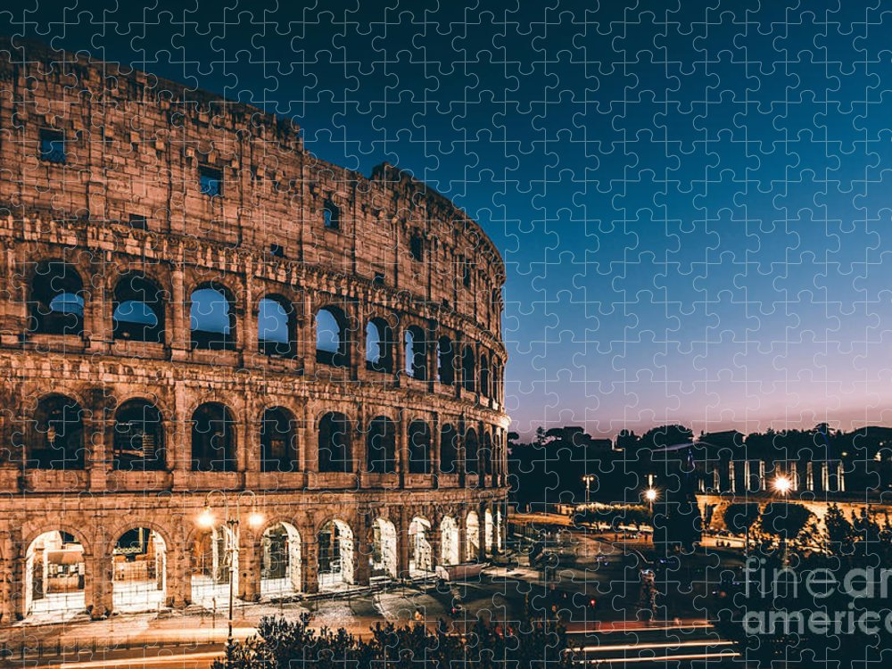 Sunrise Puzzle featuring the photograph Colosseum by Tom Bennink