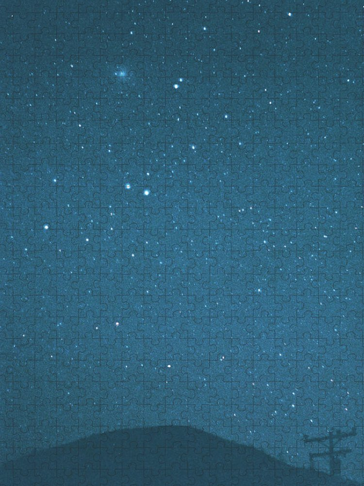 Comet Puzzle featuring the photograph Comet Iras-araki-alcock And Star by Digital Vision.
