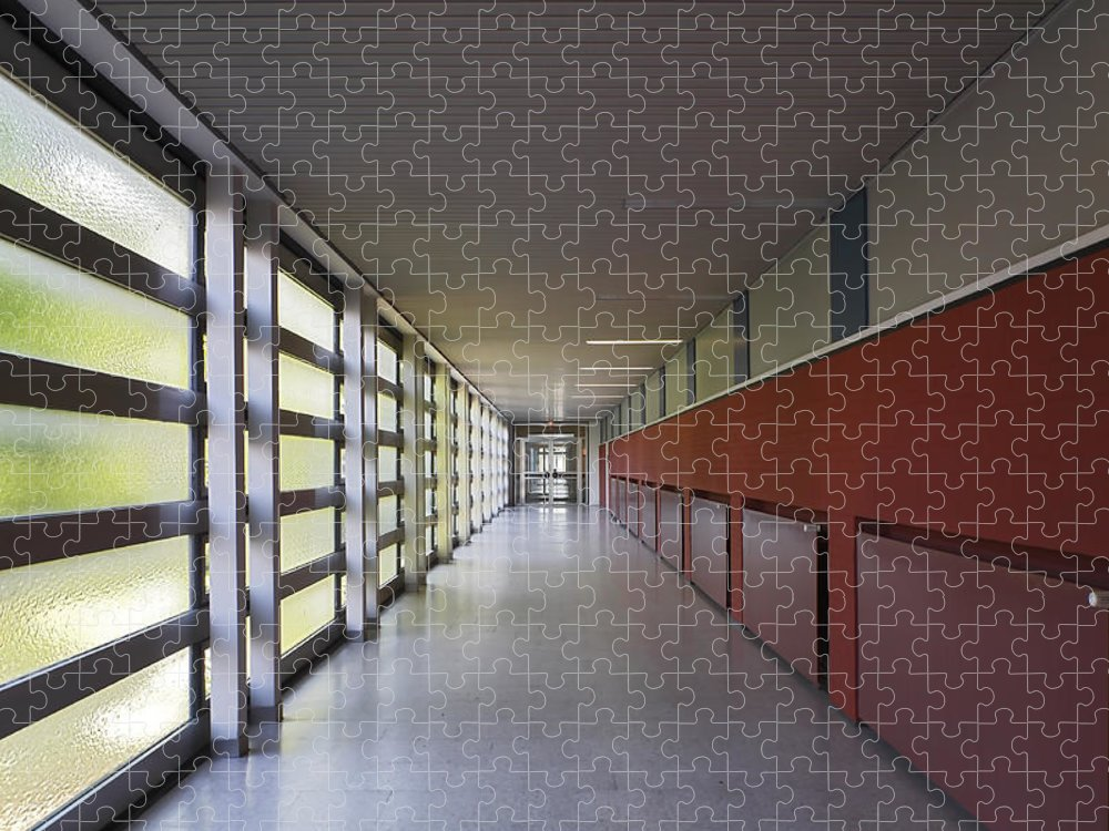 New Business Puzzle featuring the photograph Corporate Interior by Elkor
