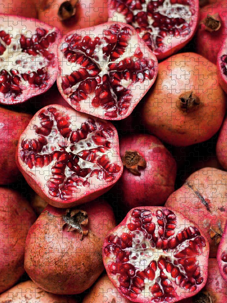 Vitamin Puzzle featuring the photograph Cracked Pomegranate by Subman