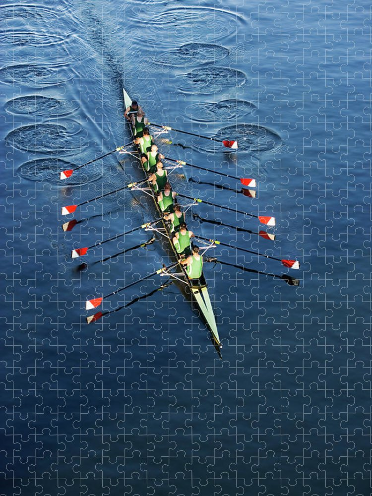 Viewpoint Puzzle featuring the photograph Crew Team Rowing by Fuse
