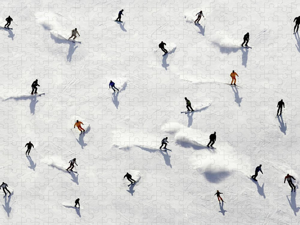 Skiing Puzzle featuring the photograph Crowded Holiday by Mistikas