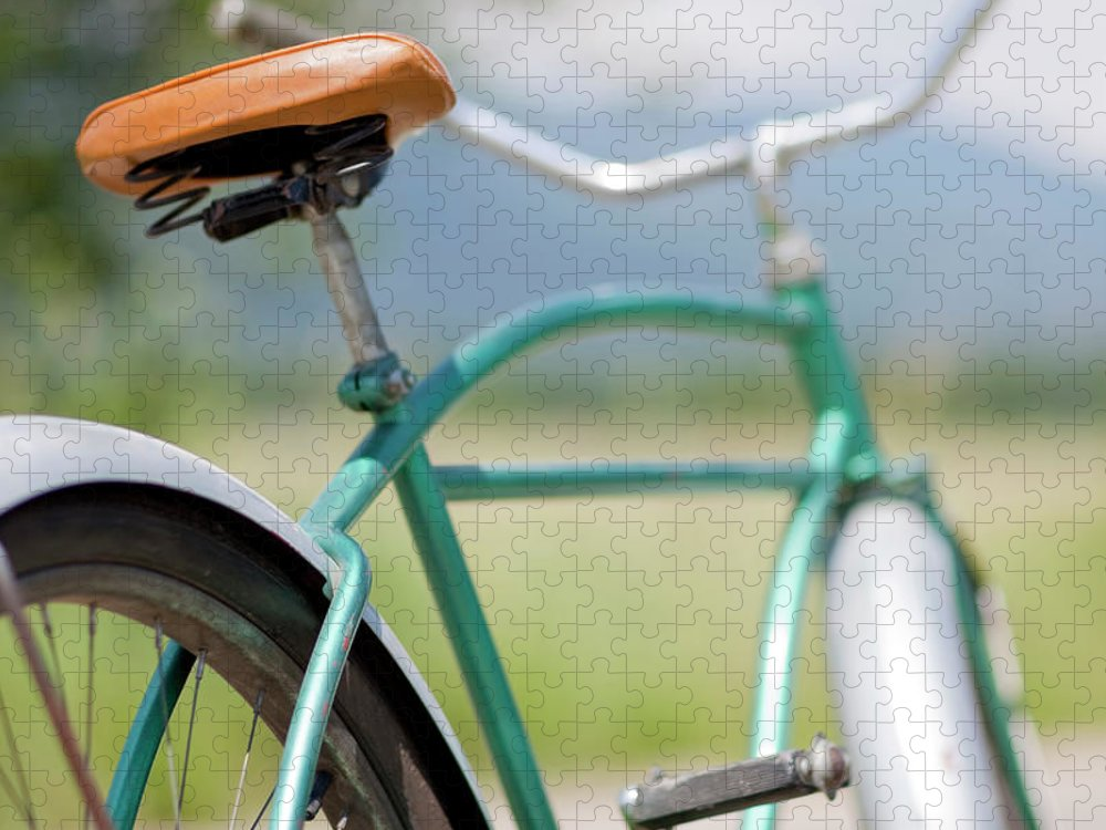 Tranquility Puzzle featuring the photograph Cruiser Bicycle by Rocksunderwater