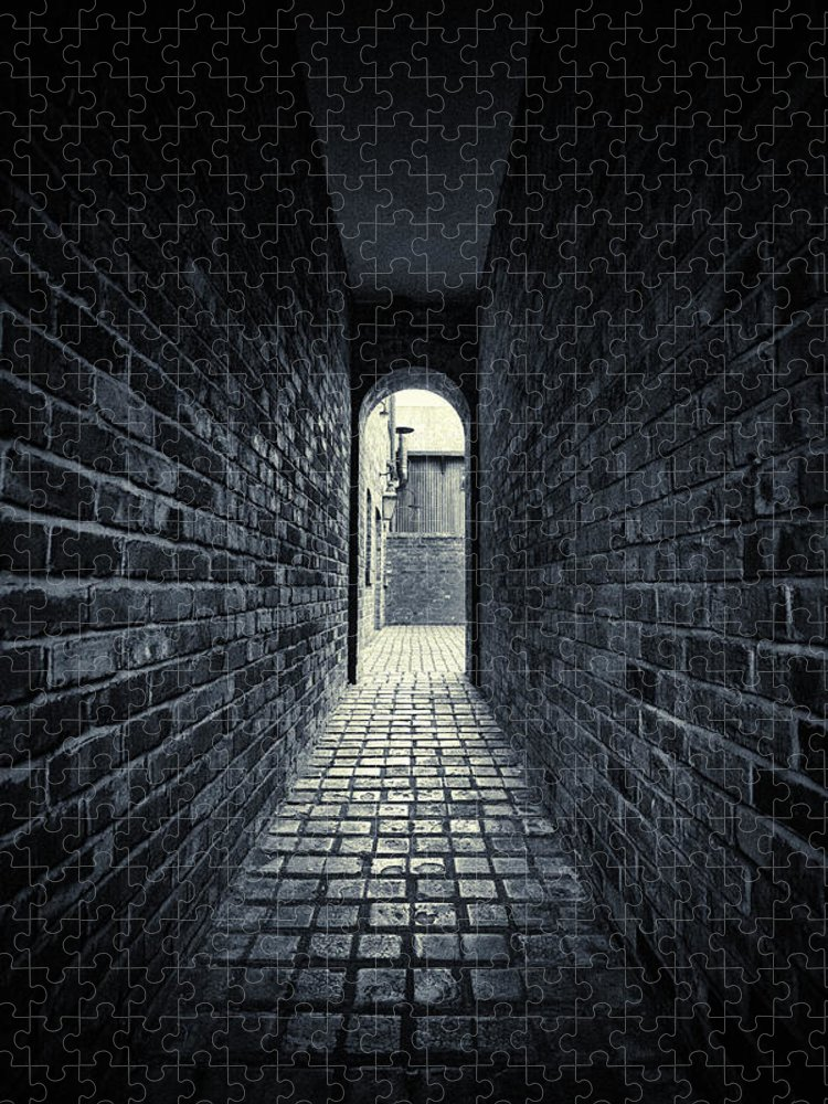 Horror Puzzle featuring the photograph Dark Alley by Duncan1890