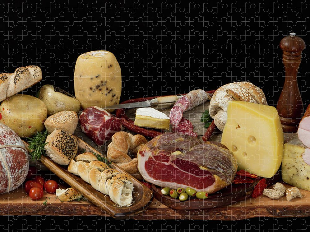 Cheese Puzzle featuring the photograph Delicious Typical Argentinean Antipasto by Ruizluquepaz